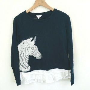 Crown & Ivy Layered Zebra Shirt